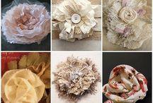 цветы из ткани, шебби ...., броши..
