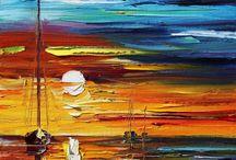 pintura espatulada