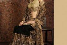 Designer Sarees With Net Material