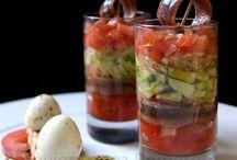 ensaladas en vasos