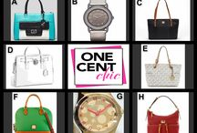 Sunday Night Second Chance Auction / Great Opportunity to Win a Beautiful Designer Bag or Watch - Tonight at 10 PM ET @OneCentChic