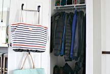 Organized Coat Closets / Coat Closet Organizing