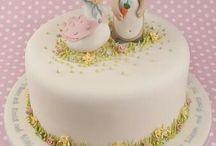 Easter Cake and Cupcake