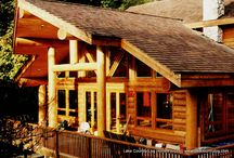 """Custom Log Siding / 12"""" Ship Lapped Handcrafted Log Siding. Available in Western Red Cedar, Douglas Fir, Pine and Spruce"""
