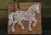 Paarden knutselen