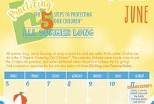 SUMMER SAFETY / Let's practice the 5 Steps to Protecting Our Children™ all summer long to help keep kids safe!