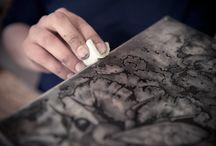 Illustration, printmaking, calligraphy & bookbinding