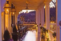 Front Porch Style / Style your front porch to be eye catching and comfortable. #frontporch