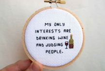 Cross Stitch: Quotes and Sayings