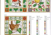 cross stitch embroidery - birds