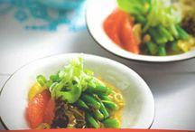 Receta de Ensalada con pomelo y aliño oriental para cenar