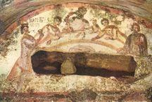 Orante and Eucharist Scenes (Catacombs)