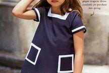 vestidos infantil tricoline