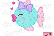 Machine Applique and Embroidery designs.