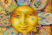раскраски - солнце