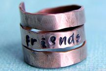 Friend Metal Stamping Gift Ideas / Inspiration for making personalized gifts for a friend!