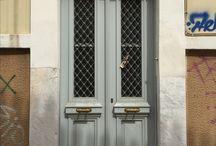 Doors Galore ❤️ / Doors, Greece, interior design, architecture, travel, Mykonos, santorini, Athens