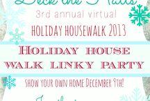 Christmas holiday house walk