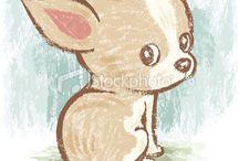Chihuahua illustrations