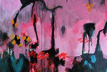 abstract mauve