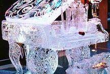 Inspiring ice & snow sculptures / Ice & snow sculptures - different items