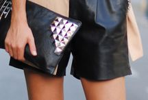 Short Style / outfits featuring with leather shorts