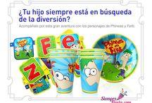 Fiesta de Phineas y Ferb / Ideas y artículos para tu fiesta de Phineas y Ferb.