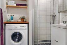 baños con lavadora
