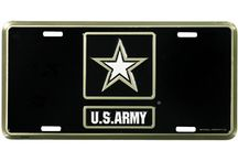 License Plates and Frames / Military Themed License Plates and Frames.  License Plates for the Army, Navy, Air Force, Marines, Retired military, Veterans and Theater of operation.  Wounded Warrior, POW and MIA plates and frames are also available.  Incredible Selection at http://www.priorservice.com/millicplat.html