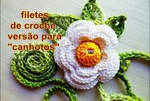 CROCHE PARA CANHOTOS - LEFT HANDED CROCHET