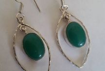 Silver plated earrings with gemstones - model lamen / Silver plated earrings with gemstones - model lamen