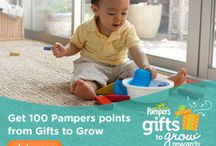 Pampers Gifts to Grow Codes / Earn points toward scooters, strollers, books, magazine subscriptions, gift cards. The more points you collect, the more fabulous toys and treats you can choose from our gift catalog.  Note: You do NOT need to have children or use Pampers diapers in order to have a Pampers Gifts to Grow account! My boys are all grown up and I have collected 1,582 points just collecting online points. I just ordered a FREE $10 Shoppers Drug Mart gift card for 1,200 points!