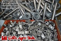 Earth Mover Parts Forgings / Agriculture Parts Forgings, Forged Harvester Fingers, Automotive Components Forging Parts, Forging Fasteners Items bolts nuts, Eye Bolts, Forged Flanges, Earth Mover Parts, Forged JCB components, Auto Parts Forging, Forged Tractor Parts, Scaffoldings & Couplers Forgings, Railway Fasteners Forgings etc. Mobile: +91-8937800001, +91-8937800002 Email: gillagroindustries@hotmail.com Website: http://www.gillsagroindustries.com