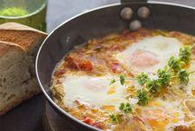 Huevos en sarten