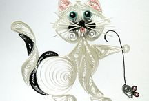 Quilling-cats