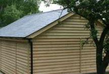Single storey timber garages