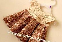 Комбинированное вязание / Платье доя девочки