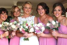Pretty Bridesmaids hairstyles / Sometimes I do the hair for the whole of the brides attendants. I love the atmosphere of the day and girls celebrating together. Here is just a small selection of styles