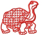 Redwork Turtles