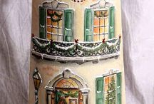 Decoupage - one stroke painting - country painting