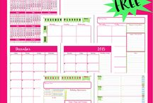 Planning and Organization / Printable Planners and organizing ideas for the home.