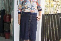 Closet - Denim Skirt / Denim skirt outfit ideas