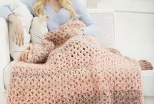 crochet & knitted blankets/throws