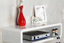 Home White Stand Storage Unit Box House Furniture Sideboard Cupboard Wall Shelf