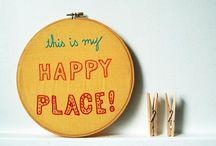 Say Sew with stitches / Stitched words, letters and quotes / by StitchKits London