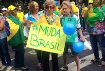 Brazil - Protestos 2015 / Dia 15.03.2015 e 12.04 so dias que as pessoas foram para as ruas no Brasil. Fotos histórica da democracia da Sociedade em rede! Foi fabuloso!  #fomospararua