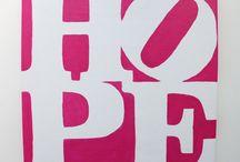 """Quadri moderni Hope / Quadri per arredamento moderno """"Hope"""" dipinti a mano e disponibili in tantissimi colori. Acquista su www.colorscrazy.it"""