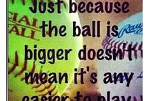 Softball / I'm in love with the green ball from god ❤️❤️❤️