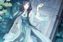 Anime girls-Blue