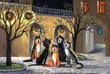 Art by Tatyana Rodionova,cat's:)